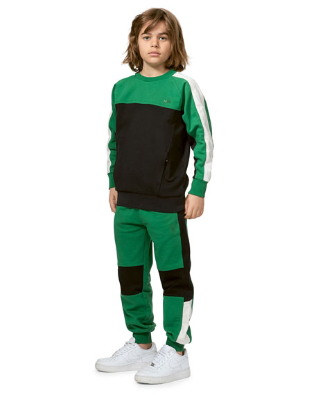 Molo Boy's Awer Colorblock Sweatpants, Size 4-14