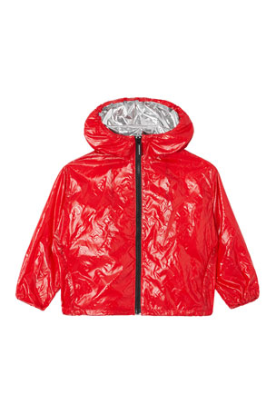 Burberry Boy's Lorenzo Embossed Logo Rain Jacket, Size 3-14