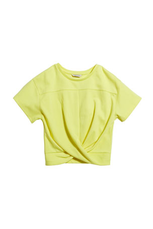 Habitual Girl's Twist Front Ponte Knit Top, Size 7-14