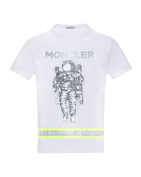 Moncler Boy's Logo Astronaut Jersey T-Shirt, Size 8-14
