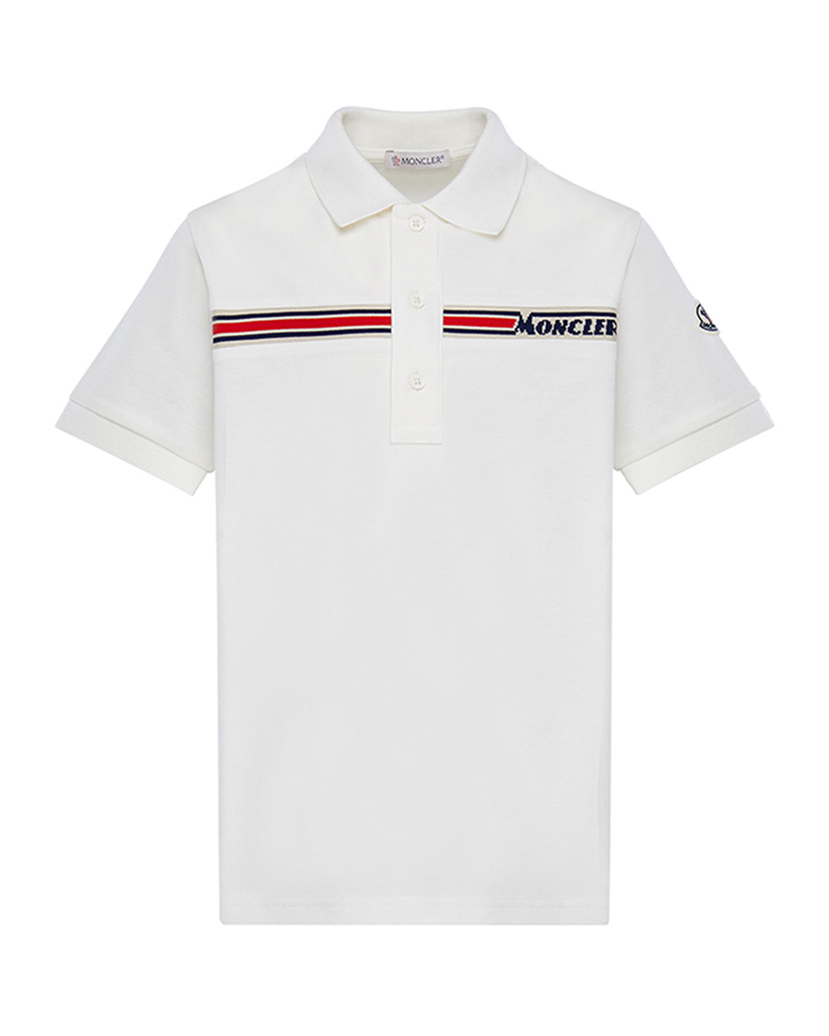 Moncler Boy's Short-Sleeve Logo Polo Shirt, Size 4-6
