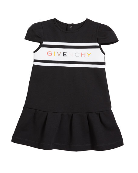 Image 1 of 2: Givenchy Girl's Multicolor Logo Text Dress, Size 2-3