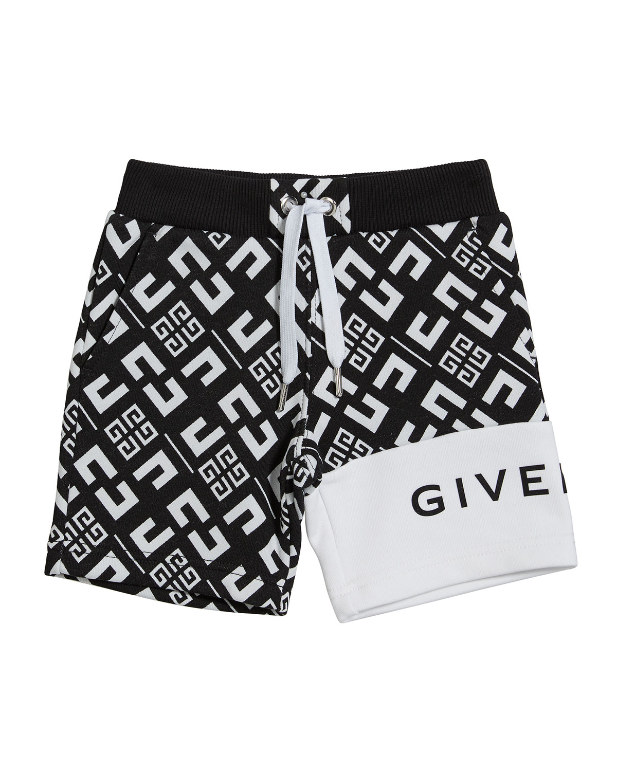 Givenchy Boy's 4-G Printed Drawstring Shorts, Size 2-3