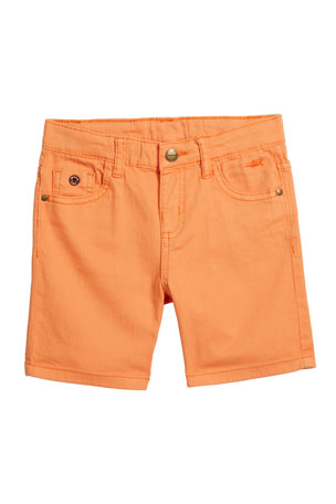 Mayoral Boy's Five-Pocket Twill Shorts, Size 4-7