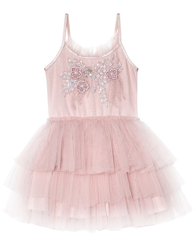Girl's Day Dream Believer Sequin Embroidered Tutu Dress  Size 6-24 Months