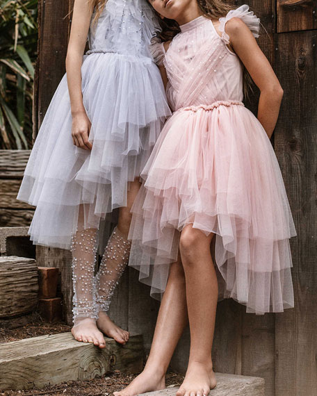 Image 4 of 4: Tutu Du Monde Girl's Fly Away Sequin Tulle Dress, Size 2-11