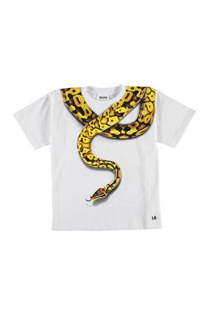 Molo Boy's Rillo Snake Graphic Short-Sleeve Tee, Size 4-12