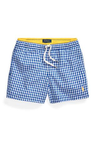 Ralph Lauren Childrenswear Boy's Traveler Gingham Swim Trunks, Size 5-7