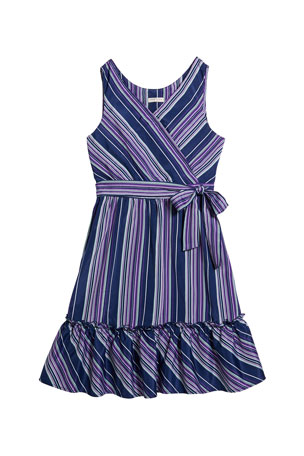 Habitual Girl's Multi-Stripe Sleeveless Dress, Size 7-14
