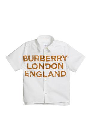 Boys Short Sleeved England Logo T-Shirt New Kids Baby White Football Tops Tee