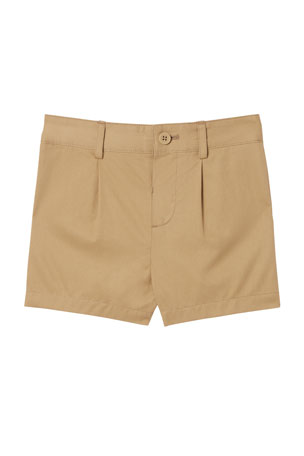 Burberry Shane Twill Shorts, Size 6 Months-2