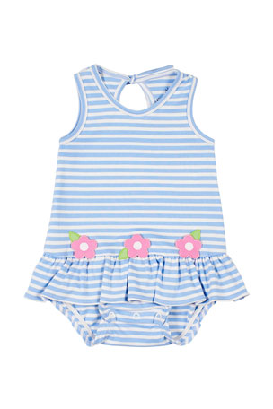 Florence Eiseman Flower Stripe Bubble Dress, Girls' 3-18 Months