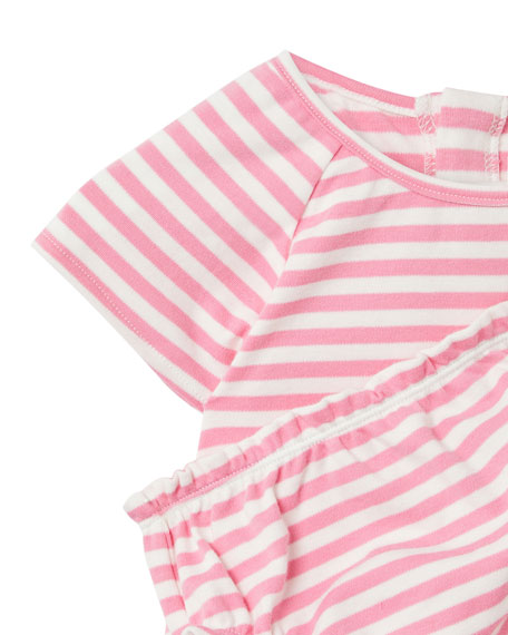 Image 3 of 3: Joules Girl's Twiggy Mermaids Stripe Dress w/ Bloomers, Size 6-24 Months