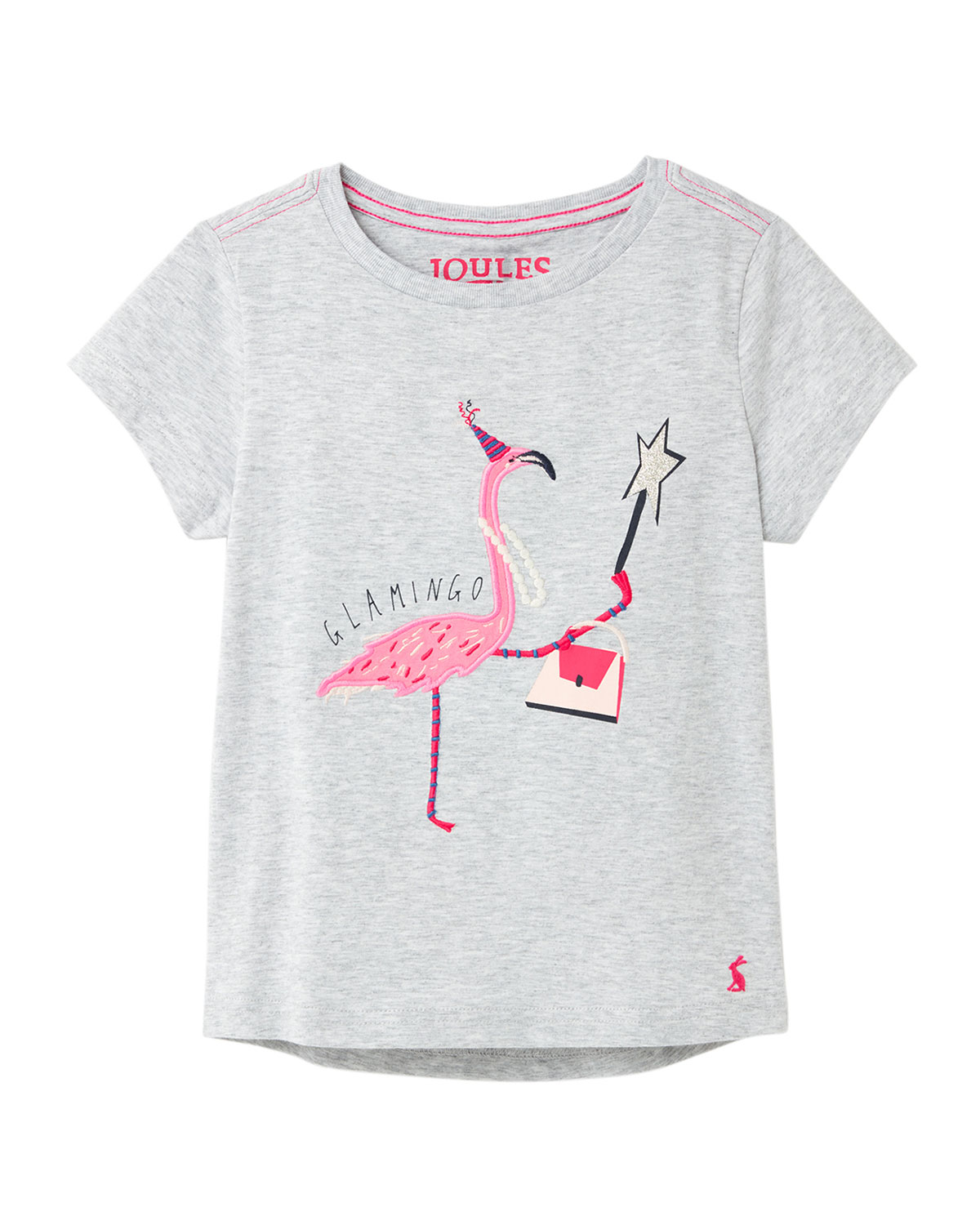 Joules Girl's Astra Flamingo Tee, Size 3-10