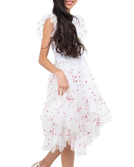 Zoe Girl's Sparkle Dot Mesh Dress, Size 7-16