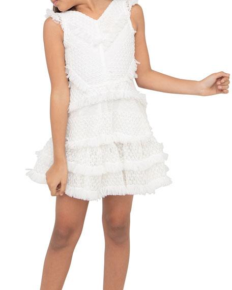 Zoe Girl's Blaire Ruffled Mesh Dress, Size 7-16