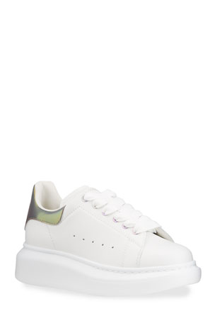 Alexander McQueen Kid's Reflective Leather Chunky Sneakers, Toddler/ Kids