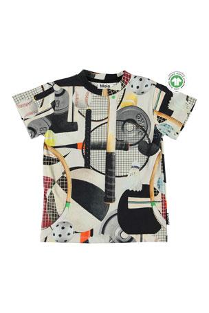 Molo Boy's Road Sports Gear Printed T-Shirt, Size 4-12