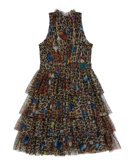 Image 2 of 3: Hannah Banana Leopard Butterfly Dress, Size 7-14