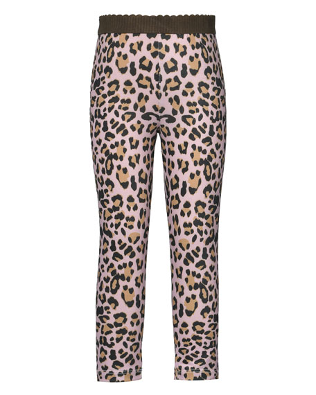 Image 1 of 3: Hannah Banana Girl's Animal-Print Leggings, Size 4-6X