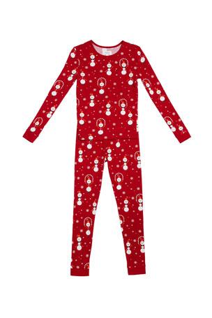 BedHead Pajamas Juggling Snowman Pajama Set, Size 2-12