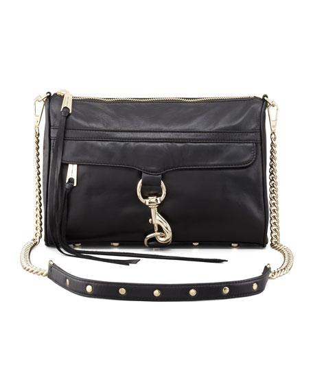 MAC Calfskin Clutch Bag, Black