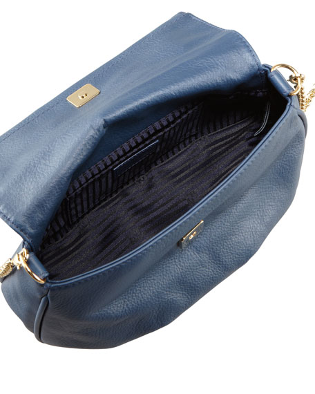 Fendista Pochette Crossbody Bag, Navy