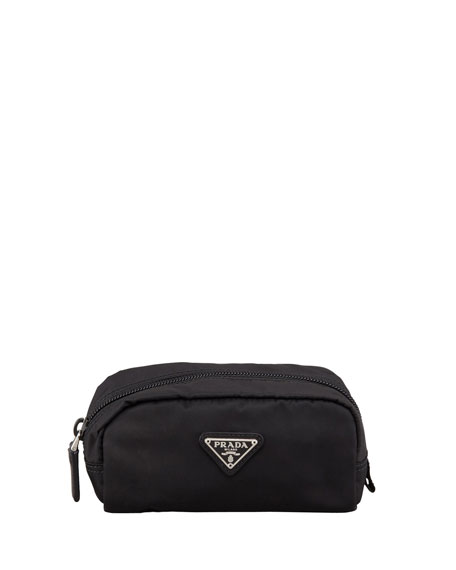 Vela Nylon Cosmetic Case, Black (Nero)