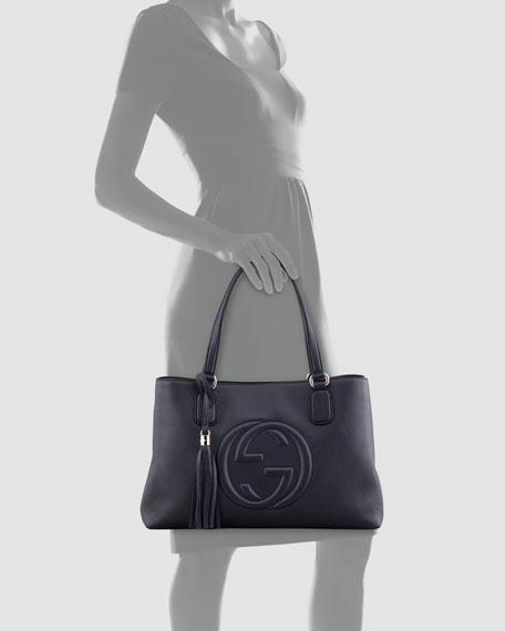 Soho Leather Working Tote Bag, Dark Navy