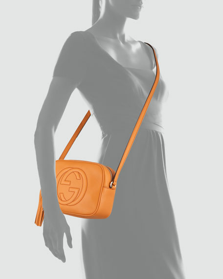 Soho Leather Disco Bag, Orange