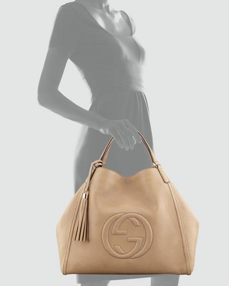 f2e653277bba Gucci Soho Large A-Shape Hobo Bag, Cream