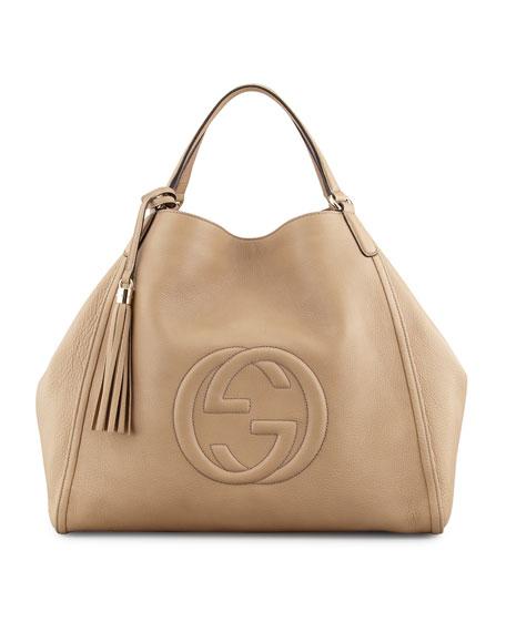 1fe58c428dc49c Gucci Soho Large A-Shape Hobo Bag, Cream Stylish Handbags: Neiman Marcus ...