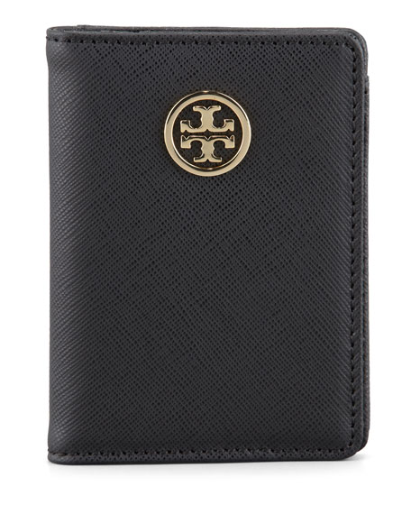 Robinson Passport Holder, Black/Turq