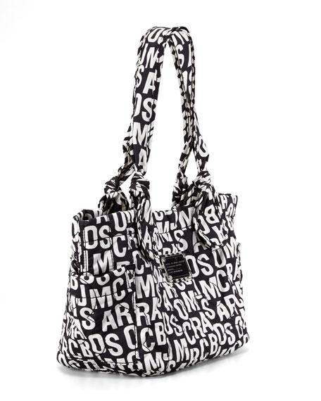 Pretty Nylon Kristine Logo-Print Tote Bag