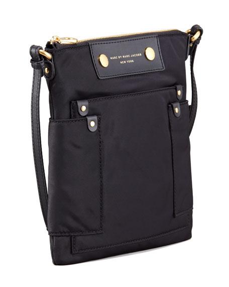 Preppy Nylon Sia Crossbody Bag, Black