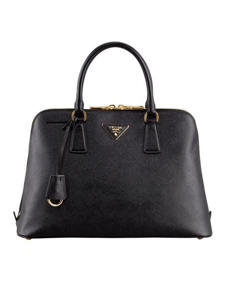 Saffiano Promenade Lux Handbag, Black