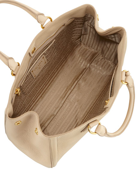 Vitello Daino Tote Bag, Light Camel