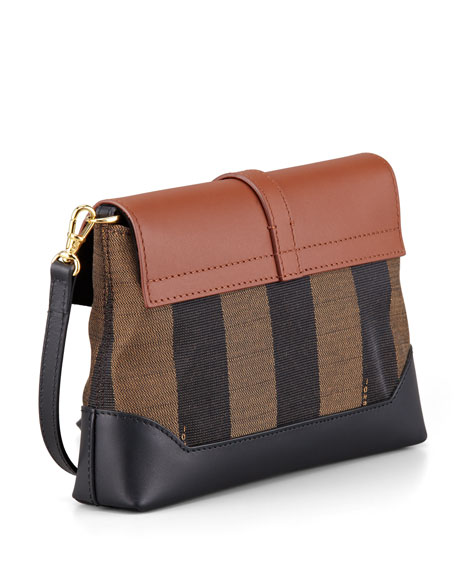 Pequin Flap-Top Crossbody Bag, Tobacco/Black