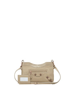 Balenciaga Giant 12 Rose Golden Hip Crossbody Bag, Latte