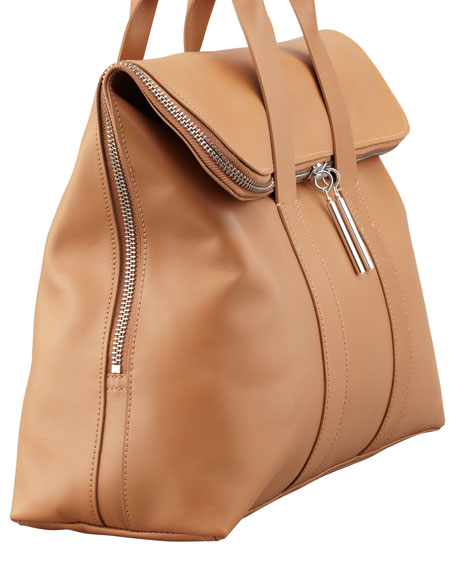 31-Hour Fold-Over Tote Bag, Nude