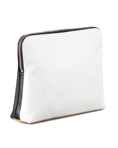 31 Minute Cosmetic Bag, White/Black