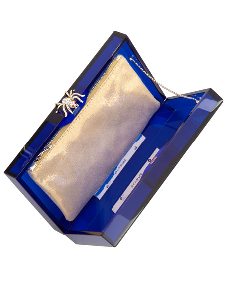 Pandora Spider Clutch Box, Blue