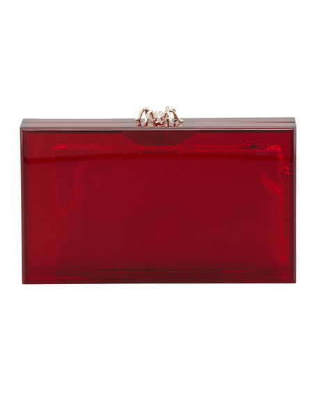 Pandora Spider Clutch Box, Red