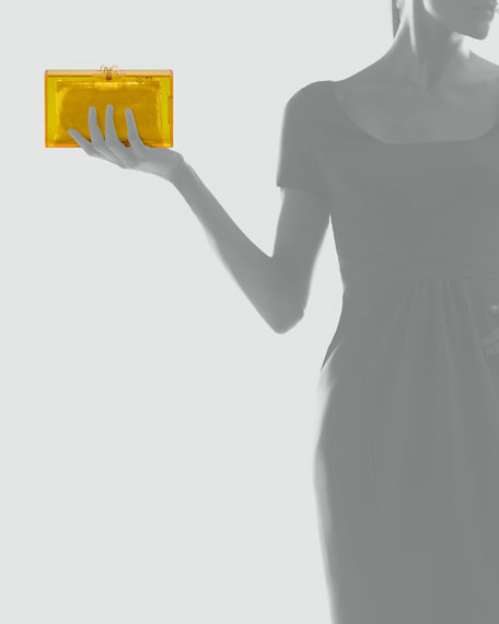 Pandora Spider Box Clutch, Yellow