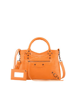 Balenciaga Classic Town Bag, Tangerine