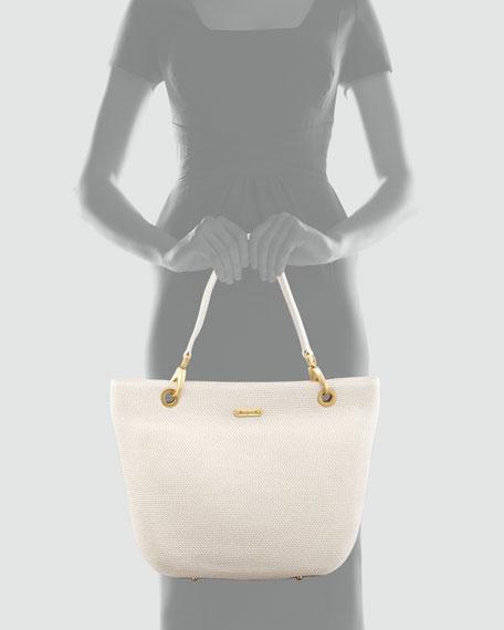 Squishee Clip Tote Bag, Cream