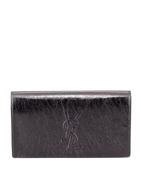 Belle De Jour Metallic Clutch Bag, Anthracite