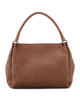 Bottega Veneta Large East-West Hobo Bag, Hazelnut Brown