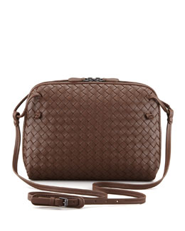 Bottega Veneta Veneta Small Crossbody Bag, Dark Brown