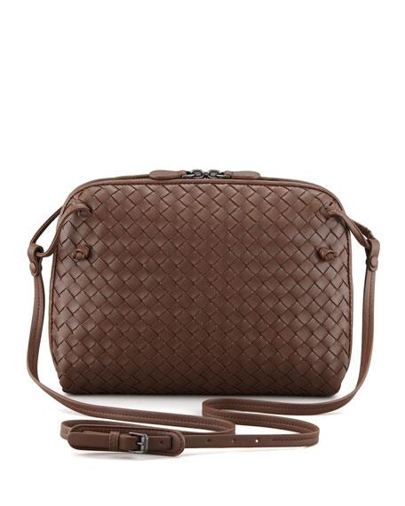 Veneta Small Crossbody Bag, Dark Brown